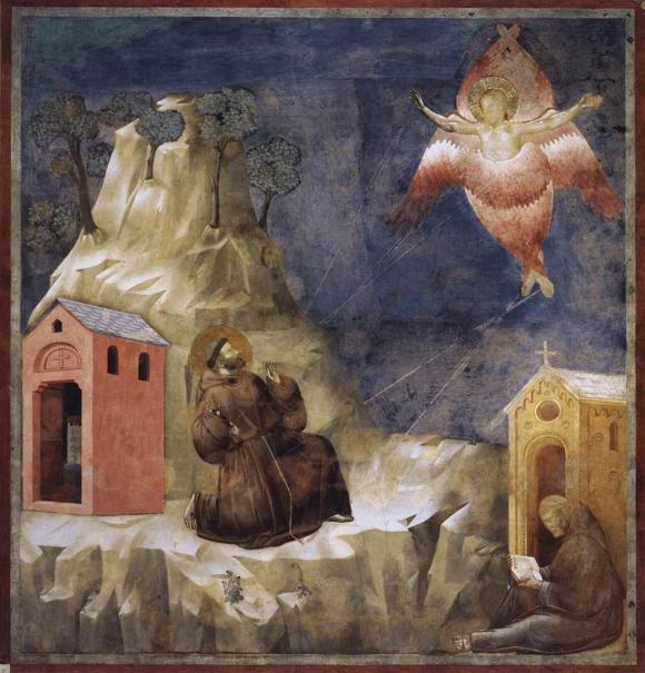 Giotto di Bondone (attribuizione) - San Francesco riceve le stimmate