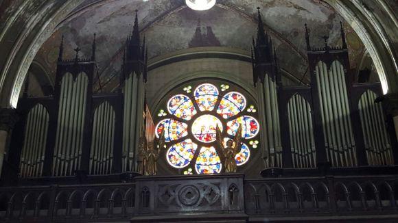 Dentro da Igreja de Santa Efigênia, São Paulo.